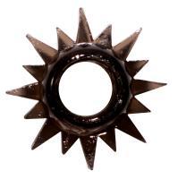 Чёрное эрекционное кольцо Rings Cristal
