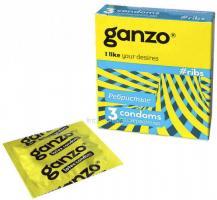 Презервативы Ganzo Ribs ребристые, 3 шт
