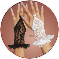 Перчатки Кружевные SoftLine, короткие, черные-S/L