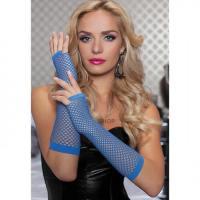 Перчатки Seven til Midnight длинные ажурные BLU, синие OS
