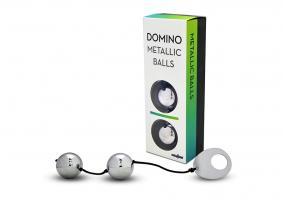 Вагинальные шарики металлические Gopaldas Domino, серебристый