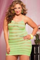 Лаймовое платье в полоску Seven`til Midnight, One Size XL