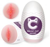 Мастурбатор-ротик Magic cat Flame, телесный
