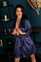 Пеньюары LivCo Corsetti Fashion LC 90520 Edelina szlafrok Navy Blue, Синий, M
